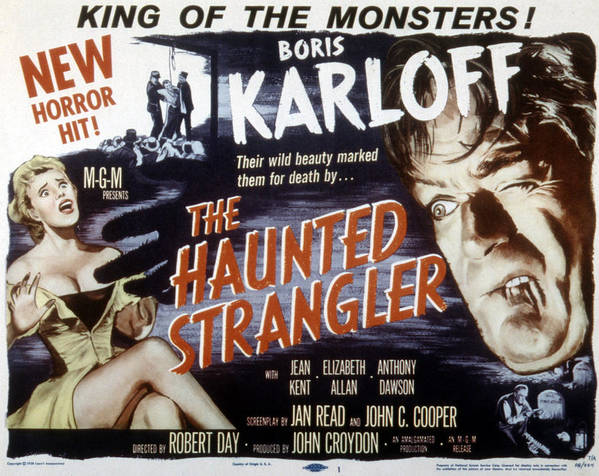 1950s Poster Art Poster featuring the photograph Grip Of The Strangler, Aka The Haunted by Everett