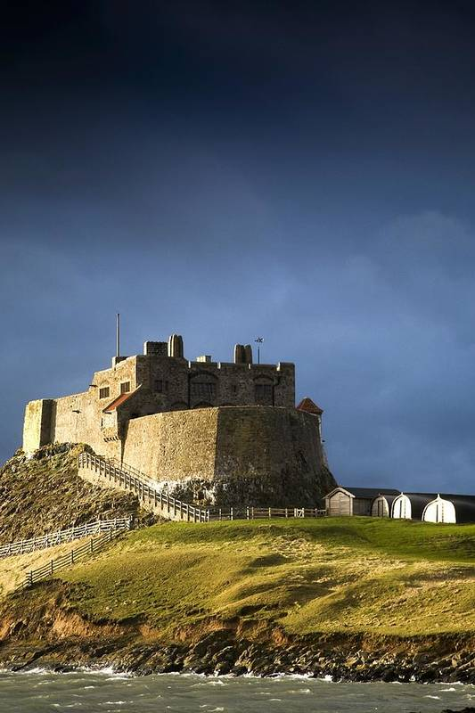 Architectural Poster featuring the photograph Lindisfarne Castle On A Volcanic Mound by John Short