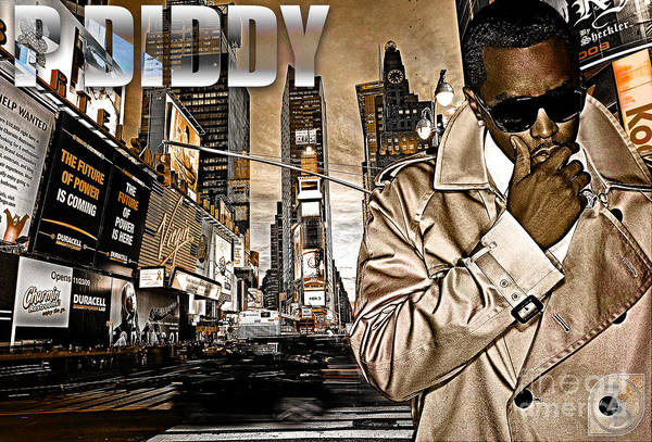 Puffy Poster featuring the digital art P Diddy by The DigArtisT