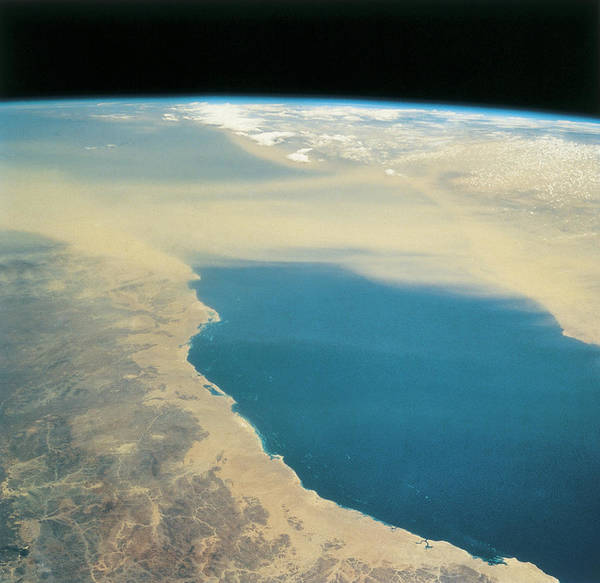 Square Poster featuring the photograph Planet Earth Viewed From Space by Stockbyte