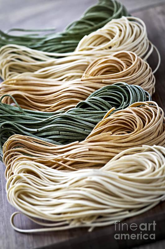 Tagliolini Poster featuring the photograph Tagliolini Pasta by Elena Elisseeva
