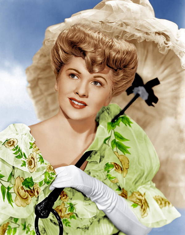 1940s Portraits Poster featuring the photograph The Emperor Waltz, Joan Fontaine, 1948 by Everett