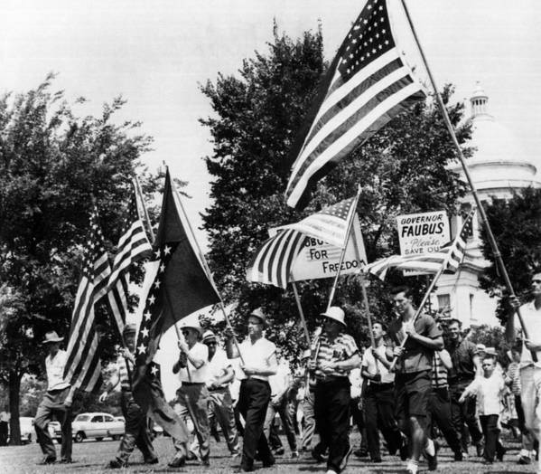 1950s Poster featuring the photograph Us Civil Rights. Demonstrators by Everett