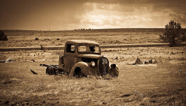Ford Truck Poster featuring the photograph 1938 Ford Pickup by Steve McKinzie