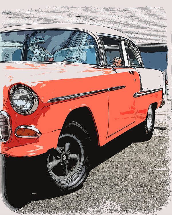 Hot Rod Poster featuring the photograph 1955 Chevy by Steve McKinzie