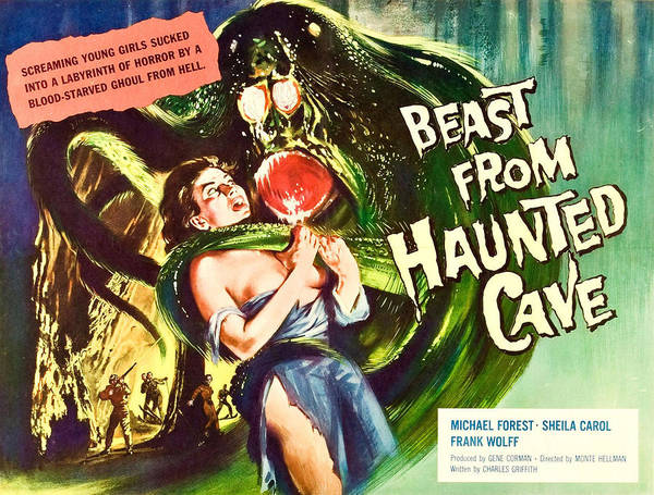 1950s Poster featuring the photograph Beast From Haunted Cave, Sheila Carol by Everett