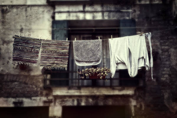 Laundering Poster featuring the photograph Laundry by Joana Kruse
