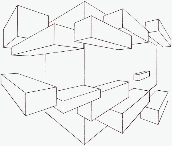 Abstract Poster featuring the photograph 2-point Perspective Drawing by Gregory Dean