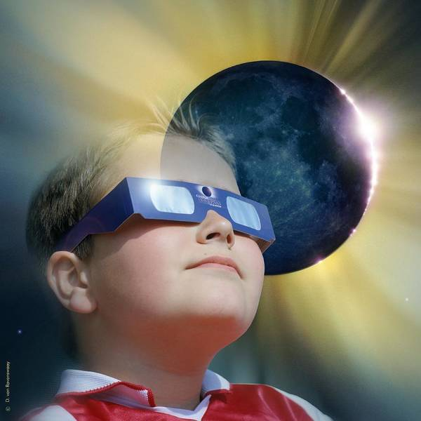 Corona Poster featuring the photograph Watching Solar Eclipse by Detlev Van Ravenswaay