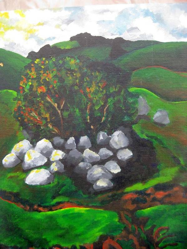 Spring Poster featuring the painting Untitled by Iris Gill