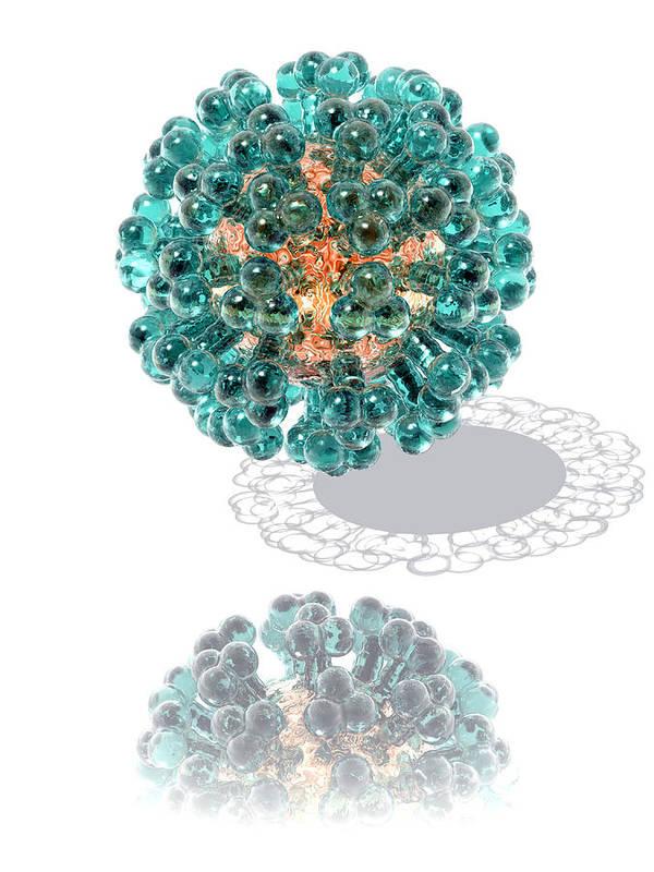 Virus Poster featuring the photograph Virus, Computer Artwork by Laguna Design