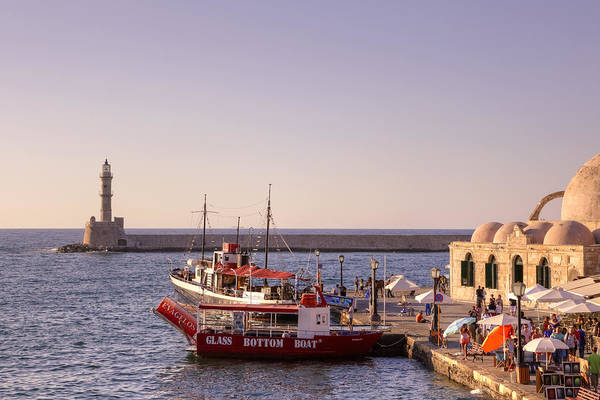 Lighthouse Poster featuring the photograph Chania - Crete by Joana Kruse