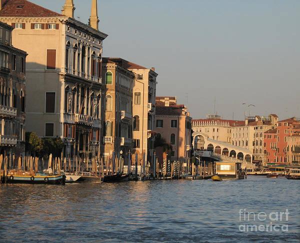 Grand Canal Poster featuring the pyrography Grand Canal. Venice by Bernard Jaubert