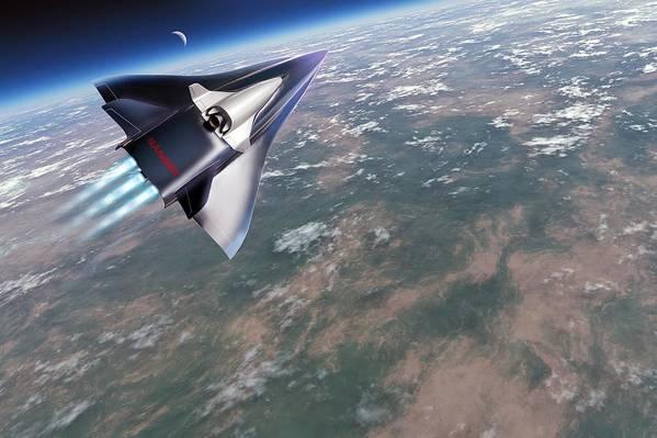 Horus Poster featuring the photograph Saenger-horus Spaceplane, Artwork by Detlev Van Ravenswaay