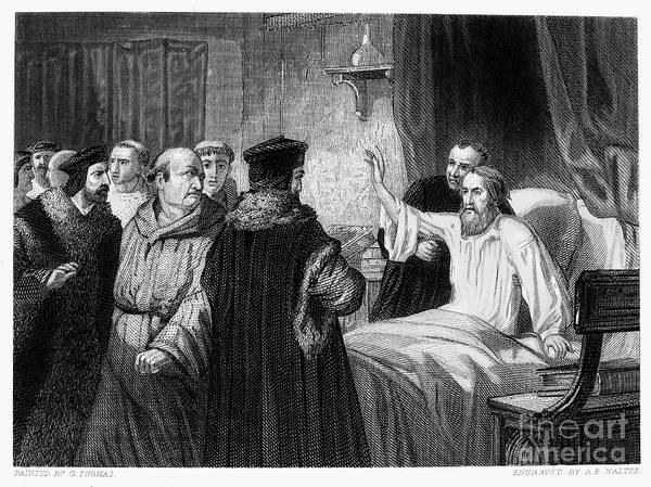 1378 Poster featuring the photograph John Wycliffe (1320?-1384) by Granger