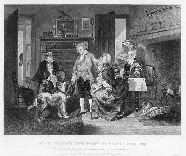 1746 Poster featuring the photograph George Washington by Granger