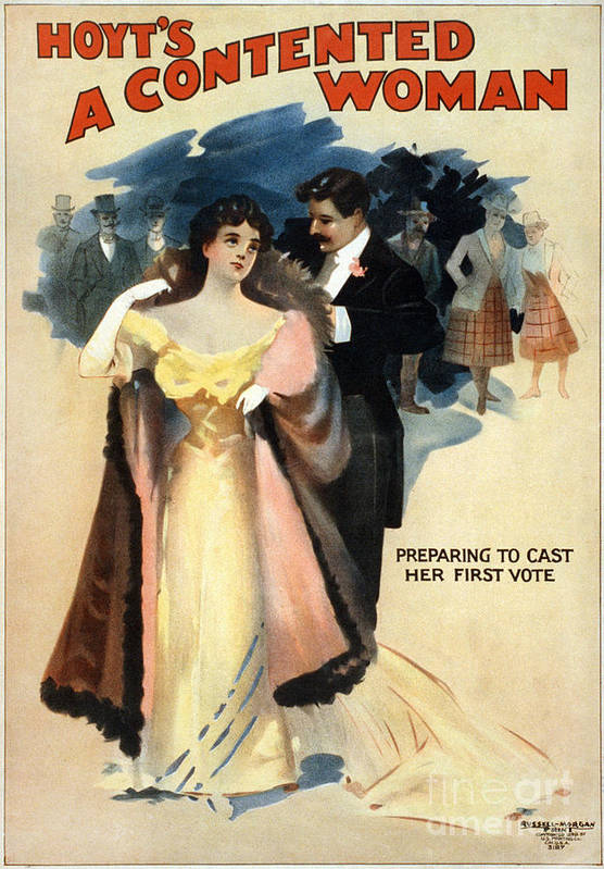 1898 Poster featuring the photograph A Contented Woman, C1898 by Granger