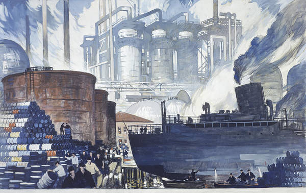 Day Poster featuring the photograph A Refinery Turns Petroleum Into Gas by Thorton Oakley