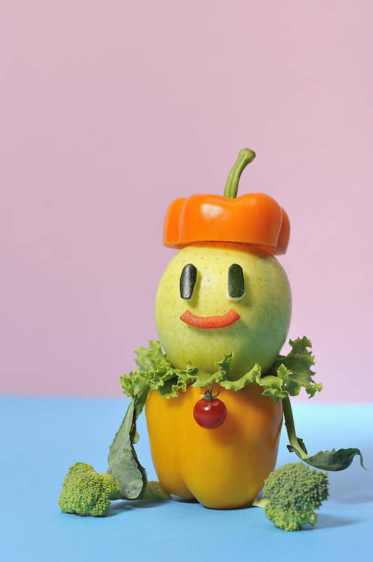 Vertical Poster featuring the photograph A Vegetable Doll by Yagi Studio