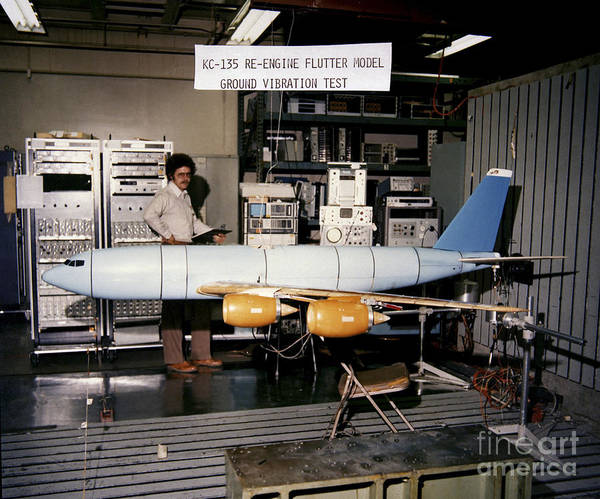 Electronics Poster featuring the photograph Aflutter Model Of A Kc-135 Stratotanker by Stocktrek Images