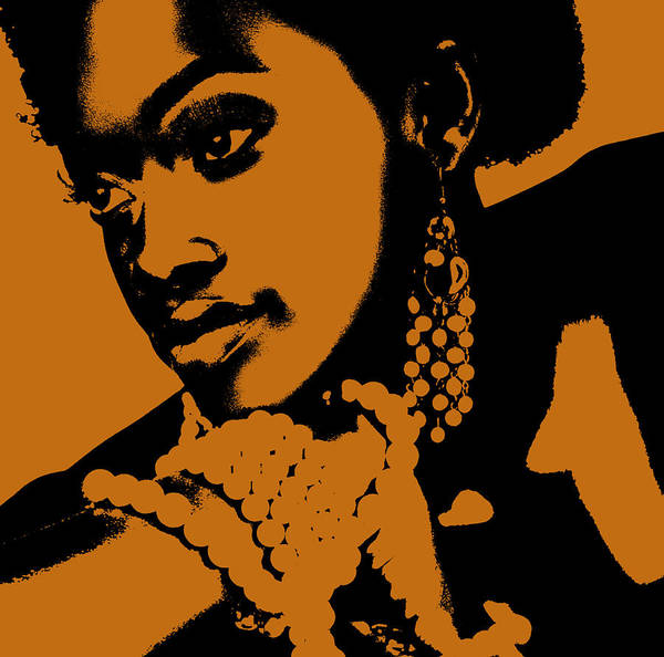 African Poster featuring the photograph Aisha by Naxart Studio