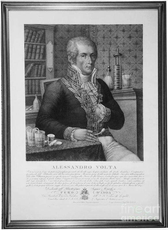 Science Poster featuring the photograph Alessandro Volta, Italian Physicist by Omikron