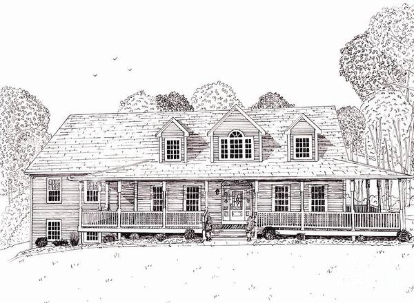Architectural Drawing Poster featuring the drawing Al's House  by Michelle Welles