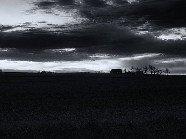 Amish Poster featuring the photograph Amish Sunrise Black And White by Joshua House
