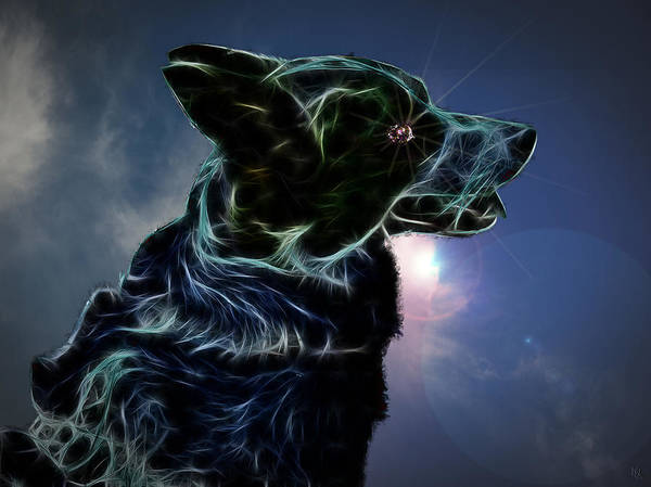 Dog Poster featuring the digital art Amy by Nafets Nuarb