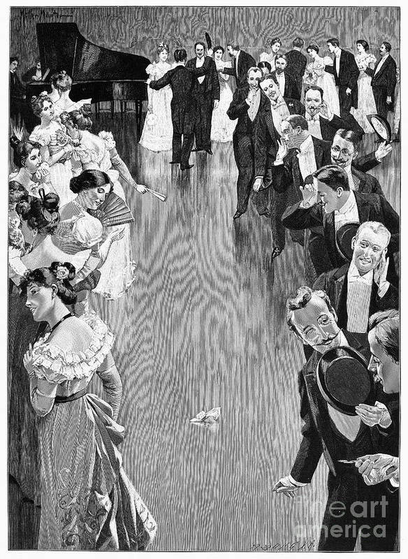 1900 Poster featuring the photograph Ballroom, C1900 by Granger