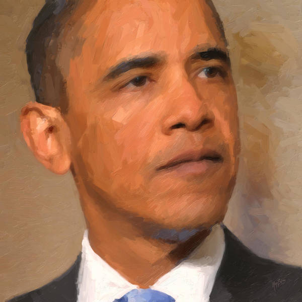 President Poster featuring the painting Barack Obama by Nop Briex