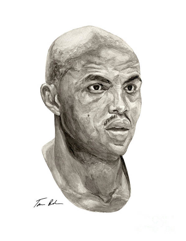 Charles Barkley Poster featuring the painting Barkley by Tamir Barkan