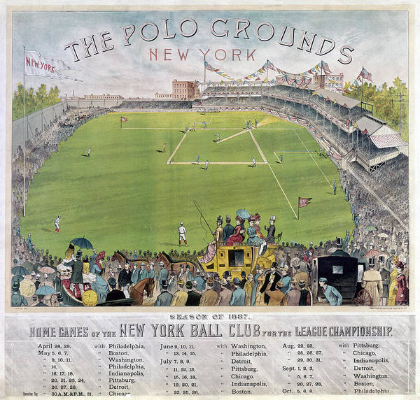 1887 Poster featuring the photograph Baseball, 1887 by Granger