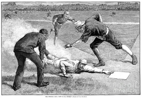 1885 Poster featuring the photograph Baseball Game, 1885 by Granger