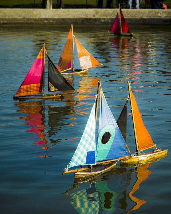 Sailboat Poster featuring the photograph Bateaux Jouets by Bronze Riser
