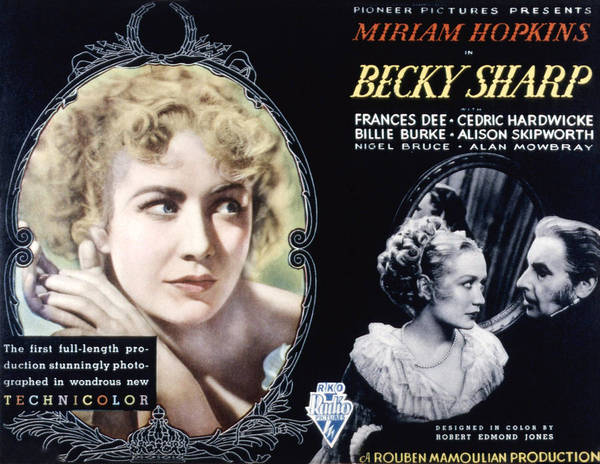 1930s Movies Poster featuring the photograph Becky Sharp, Miriam Hopkins, Cedric by Everett