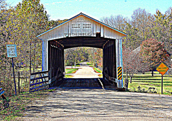 Bridge Poster featuring the photograph Billie Creek Village Covered Bridge by Robin Pross