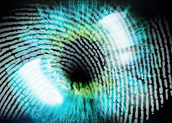 Eye Poster featuring the photograph Biometric Identification by Pasieka