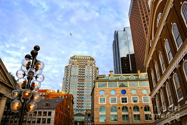 Boston Poster featuring the photograph Boston Downtown by Elena Elisseeva