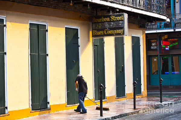 New Orleans Poster featuring the photograph Bourbon Street Morning by Leslie Leda