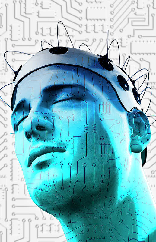 Vertical Poster featuring the digital art Brain Circuit by MedicalRF.com