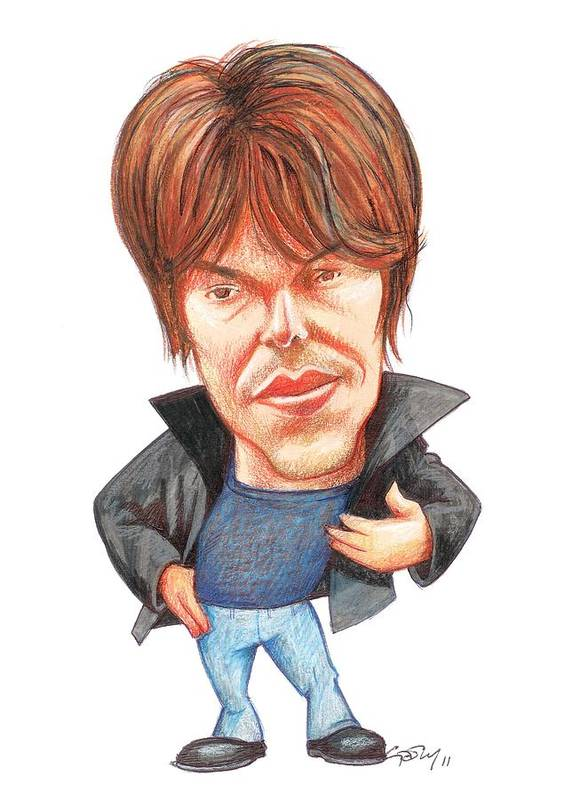 People Poster featuring the photograph Brian Cox, Caricature by Gary Brown