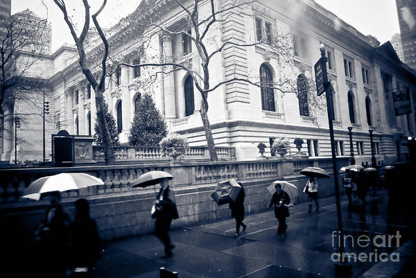 New York Poster featuring the photograph Bryant Park Umbrella Runway by Chandra Dee