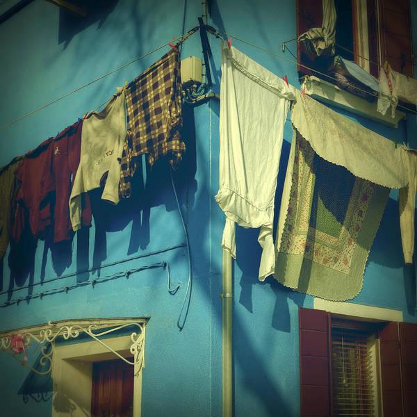 Burano Poster featuring the photograph Burano - Laundry by Joana Kruse