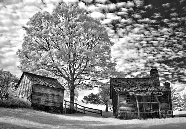 North Carolina Poster featuring the photograph Cabin Under Buttermilk Skies I by Dan Carmichael