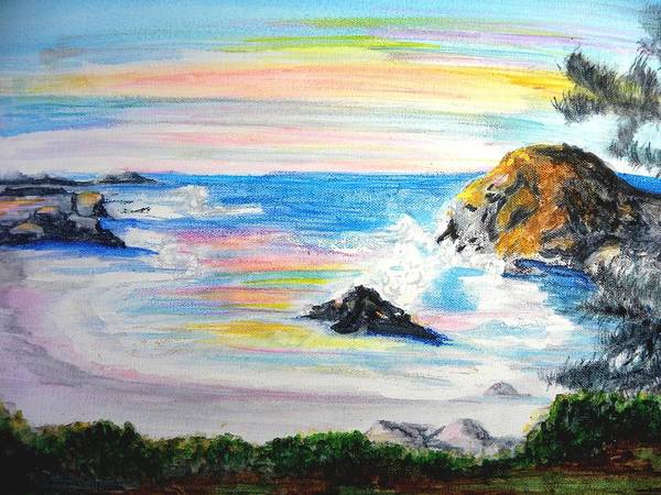 California Coast Poster featuring the painting California Coast by Susan Clark