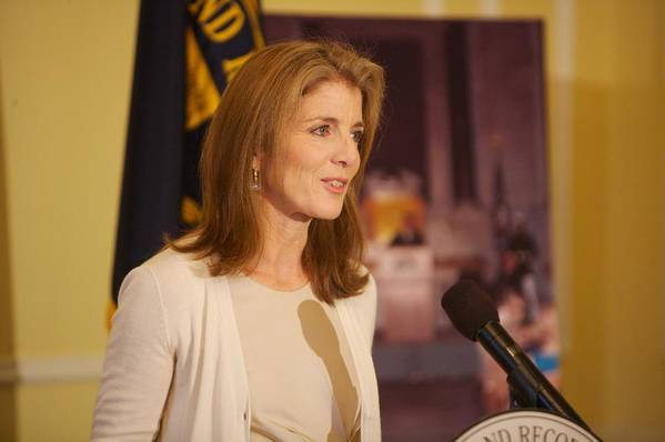 History Poster featuring the photograph Caroline Kennedy Speaking by Everett