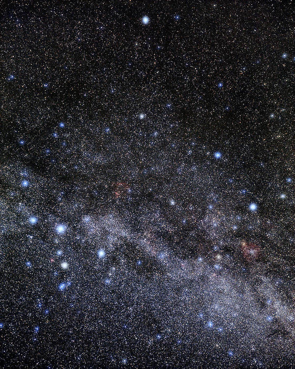 Cepheus Poster featuring the photograph Cassiopeia And Cepheus Constellations by Eckhard Slawik