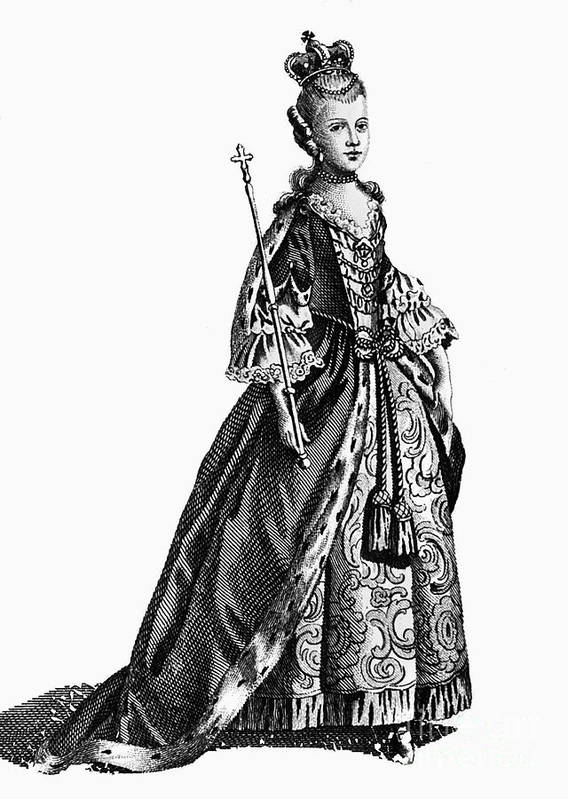 1780 Poster featuring the photograph Charlotte Sophia (1744-1818) by Granger