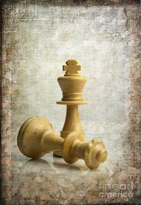 Chess Poster featuring the photograph Chess Pieces by Bernard Jaubert